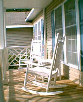 Front Porch of Shore Delight cottage in OBX