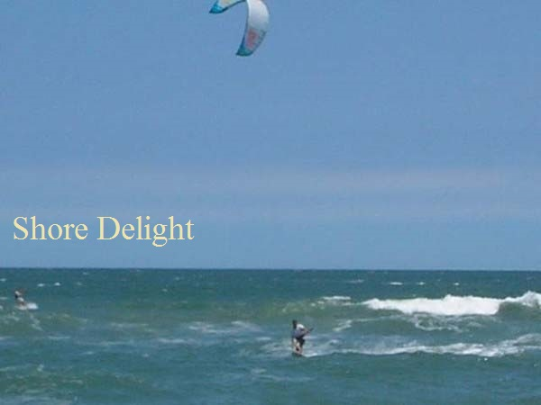 kite surfing on the Outer Banks Atlantic ocean